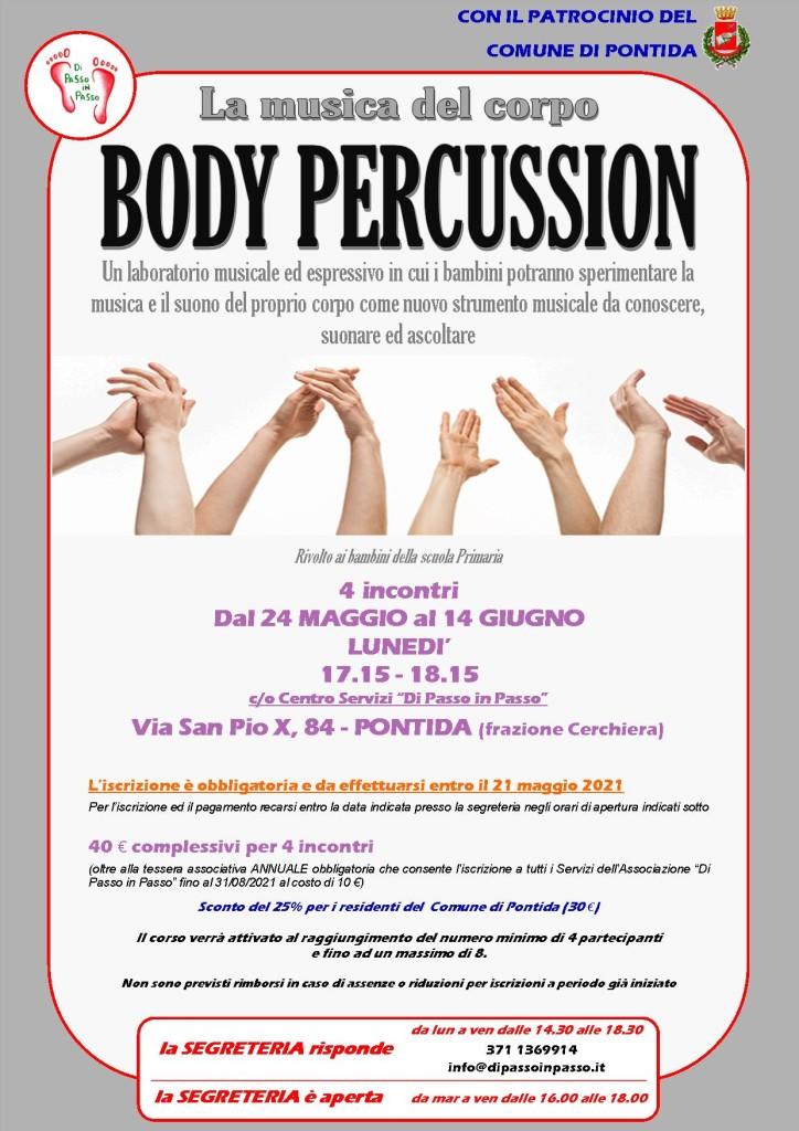 body percussion maggio-giugno 2021